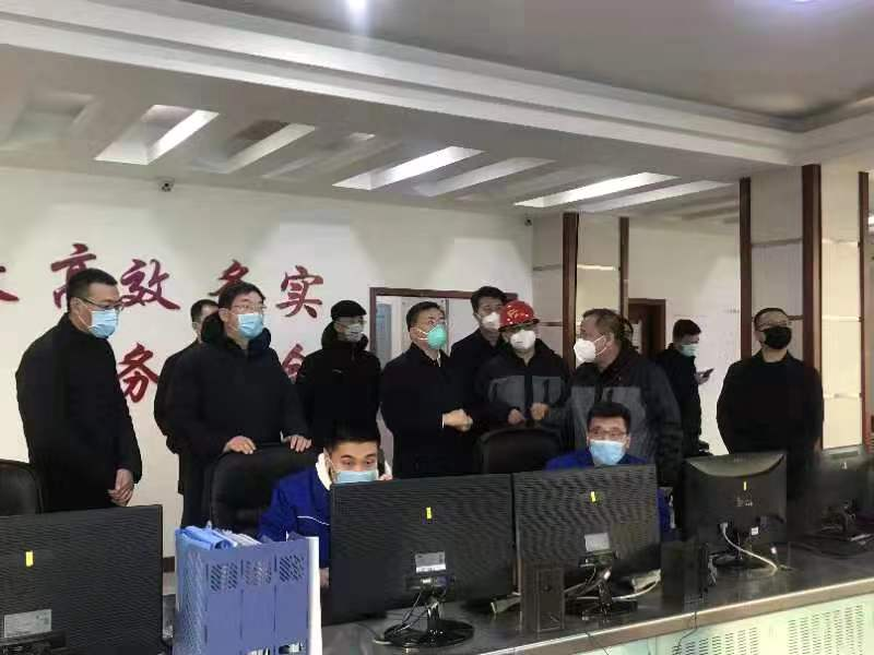 内蒙古自治区副主席包钢一行赴城发供热 桥靠分公司调研疫情防控工作